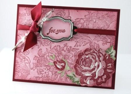 "Bella Rose ""for you"" card"