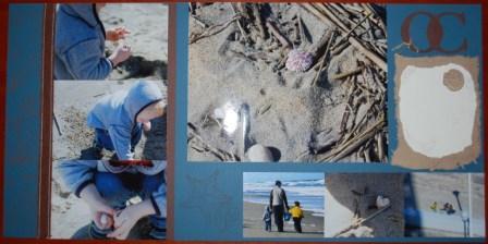 Ocean City Seaside scrapbook page