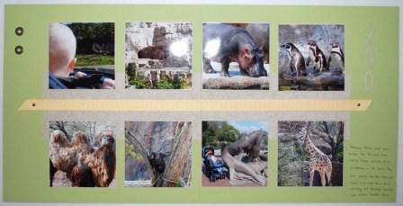 St. Louis Zoo scrapbook page