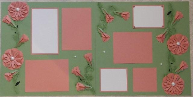 Dahlia Fold scrapbook page