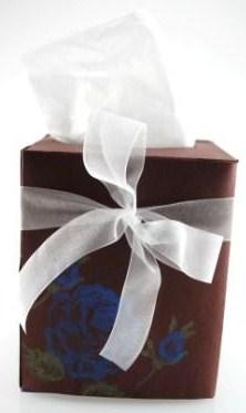 stamped tissue box