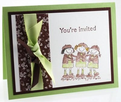 Girl Scouts invite