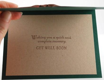 Get well soon handstamped card