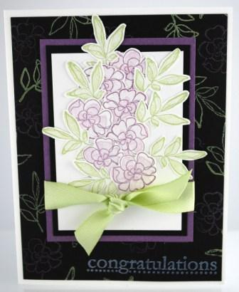 Botanical Blooms Congratulations Card