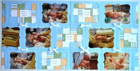 Quilted scrapbook page