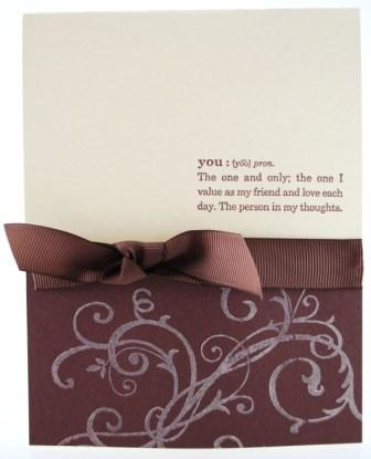 simple to CASE Stampin' Up! card