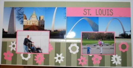St. Louis Scrapbook Page