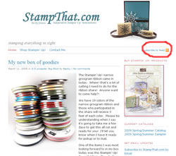 Stampin' RSS Feed