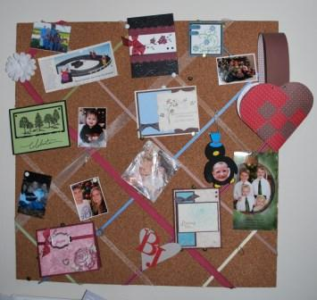 ribbon cork board