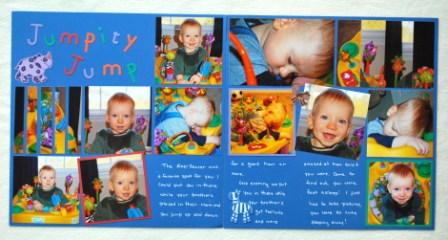 2-page children's scrapbook layout