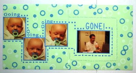 2-page scrapbook layout