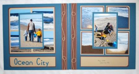 Ocean Scrapbook Layout