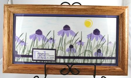 Handstamped framed art
