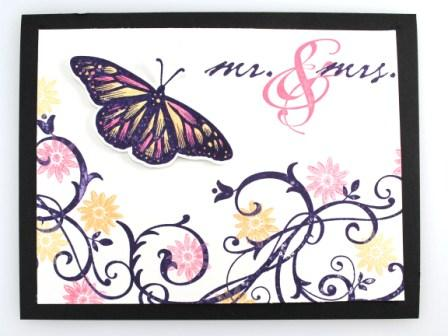 Baroque Motifs Butterfly Card
