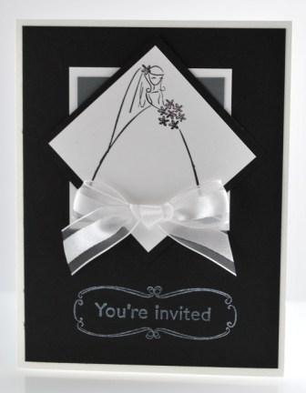 Handstamped wedding shower invitation card with stampin up to have wedding shower invitation card filmwisefo