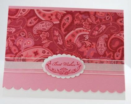 Raspberry Tart Designer Series Paper card