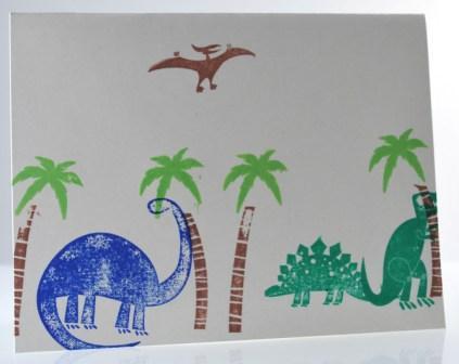 Prehistoric Pals stamp set