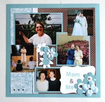 Mom and Me Scrapbook Page