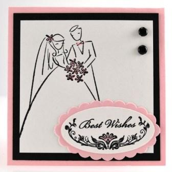 Simple Handmade Wedding Gift Card