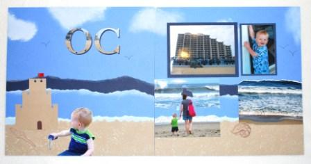 2-page beach scrapbook layout