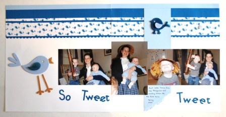 On Board So Tweet Scrapbook Page