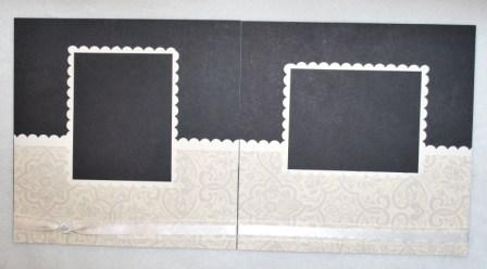 Very Vanilla & Basic Black Scrapbook Album
