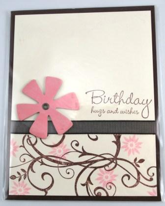 baroque motif birthday card
