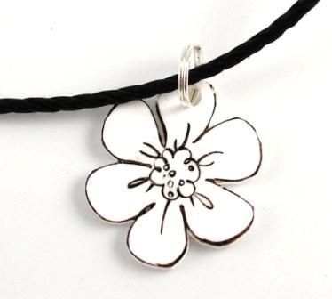 Flower Fancy Stamp Set Handmade Necklace