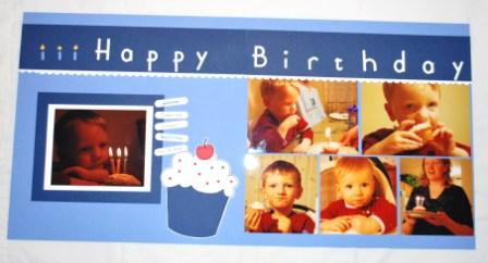 Stampin' Up! Birthday Scrapbook Pages