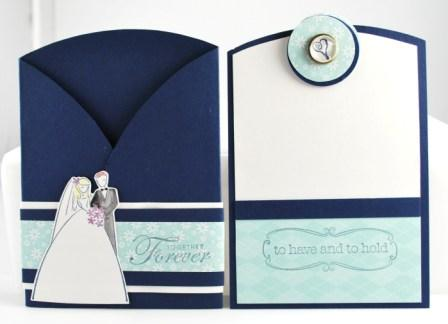 Handstamped wedding card