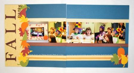 2-page Fall Scrapbook Layout