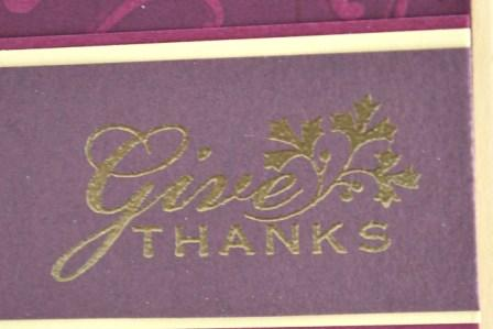 Thanksgiving handmade card