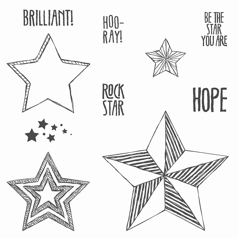 Stampin' Up! Be the Star stamp set