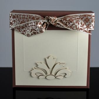 "Elegant Note Box for 4""x4"" Cards"