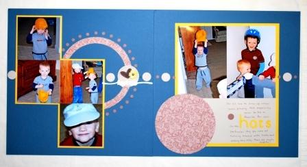 Circle Scissor Plus Scrapbook Layout