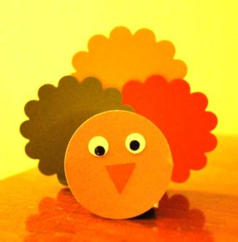 Turkey from Stampin' Up! Punches