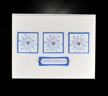 Serene Snowflake & Modern Lable Punch