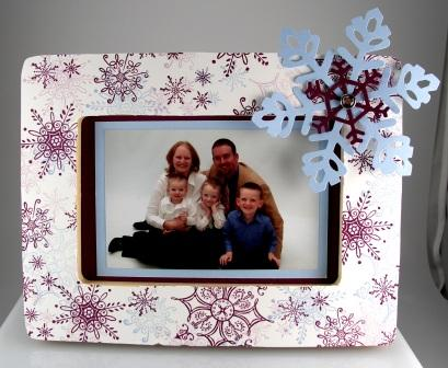 Serene Snowflake Picture Frame