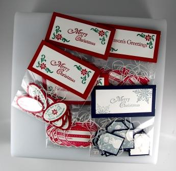 Handstamped Christmas Gift Tags