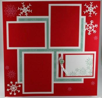 Christmas Scrapbook Layout with Snow Swirled