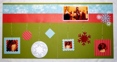 Stampin' Up! Christmas Scrapbook Page