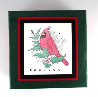 Christmas Cardinal stamp set