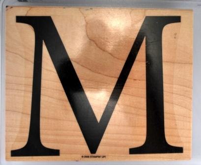 Monogram M – set of 1 - $5.00