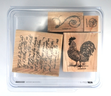 Rustic Rooster – set of 4 - $5.00