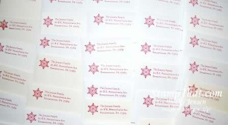 Personalized Handmade Christmas Card Envelopes