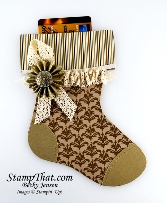 Mocha Morning Christmas Stocking