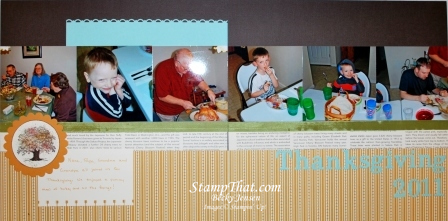 Stampin' Up! Lovely as a Tree Scrapbook Page
