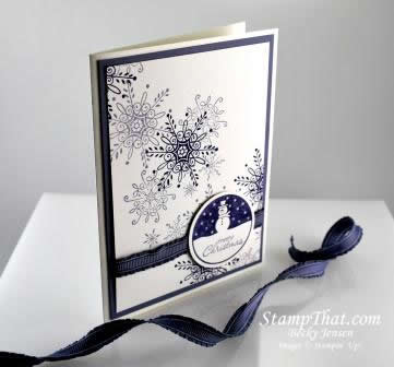Purple Snowman Christmas Card