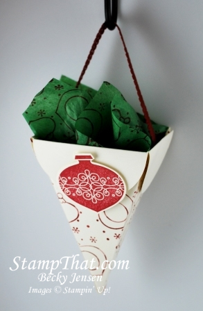 Petal Cone Christmas Ornament with 2nd Grade