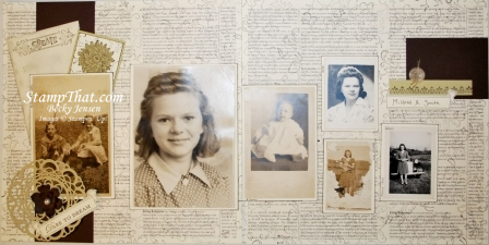 Heritage Scrapbook 2-Page Layout